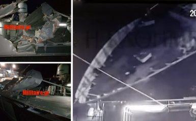 Νέες φωτογραφίες από τις ζημιές που προκάλεσε το τουρκικό πλοίο στο «Γαύδος»