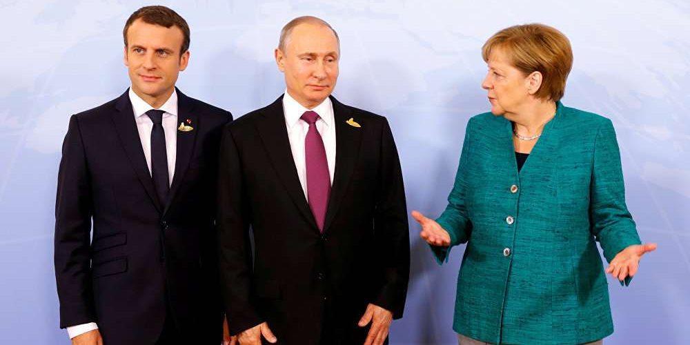 Επικοινωνία Μακρόν-Μέρκελ με Πούτιν για την εκεχειρία στη Συρία