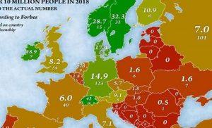 Οι δισεκατομμυριούχοι της Ευρώπης: Ποια χώρα έχει τους περισσότερους για το 2018