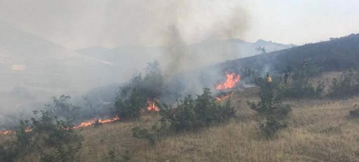 Πυρκαγιά στην περιοχή Γεντίκι της Λάρισας [εικόνα]
