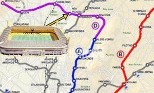 Στάση στο νέο γήπεδο της ΑΕΚ θα αποκτήσει το Μετρό