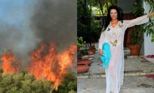 Eγκατέλειψε τη βίλα της στην Κινέτα η Ζωζώ Σαμπουντζάκη: «Δεν άντεχα τον καπνό – Ανησυχώ πολύ για το σπίτι μου»