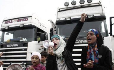 Μετανάστες στην Αθηνών-Λαμίας επιτίθενται σε οδηγούς – Έκαναν κατάληψη στο οδόστρωμα Βίντεο