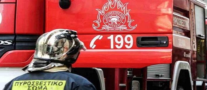 Φωτιά σε εργοστάσιο ανακύκλωσης στο Σχηματάρι Βοιωτίας βίντεο
