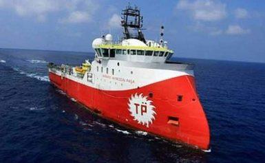 Δυτικά της Πάφου το Τουρκικό «ερευνητικό» σκάφος Barbaros.