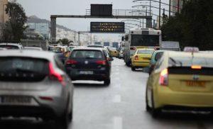 Αυξημένη κίνηση στους δρόμους της Αττικής λόγω της κακοκαιρίας