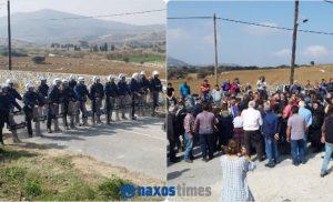 Νάξος: «Πόλεμος» για το νερό! Έσπασαν τον κλοιό των ΜΑΤ οι κάτοικοι – Ένας τραυματίας