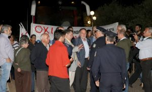 Φωτογραφίες: Σε αστυνομικό κλοιό η 8η ελληνογερμανική συνέλευση στην Κρήτη