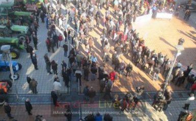 Αγροκτηνοτροφικό συλλαλητήριο με τρακτέρ στην Καρδίτσα