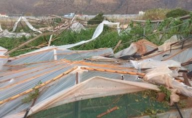 Υδροστρόβιλος σάρωσε τη Σητεία – Τεράστιες καταστροφές σε θερμοκήπια [εικόνες]