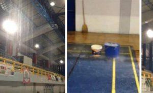 Κακοκαιρία: «Πλημμύρισε» και πάλι το κλειστό γυμναστήριο του Πύργου (βίντεο)