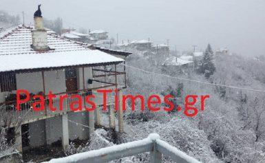 Καιρός: Εντυπωσιακές εικόνες από τη χιονισμένη Ναυπακτία (pics+vids)