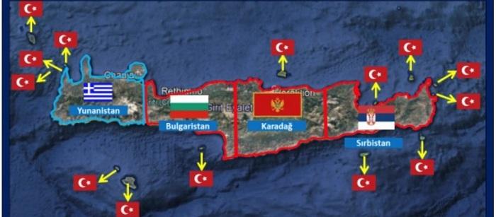 Το «τερμάτισε» η Αγκυρα: Δημοσίευσε χάρτες όπου η Κρήτη «βάσει συνθηκών» είναι κατά 75% τουρκική! (φώτο)