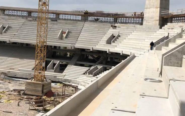 Νέο βίντεο από την εξέλιξη στο γήπεδο της ΑΕΚ