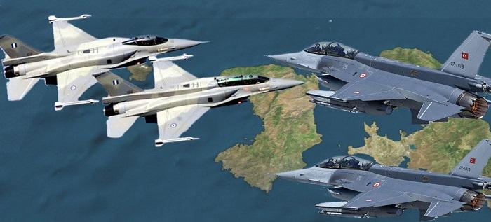 Αλωνίζουν οι Τούρκοι στον αέρα …Μια τετράδα Οπλισμένων F-16 πέρασε όλο το Αιγαίο