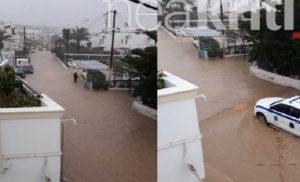 Λασίθι: Μόνο με βάρκες η μετακίνηση – Κινδύνευσαν άνθρωποι
