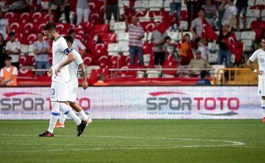 Κακή η Εθνική που ηττήθηκε με 2-1 από την Τουρκία στην Αττάλεια