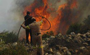 Πολύ υψηλός κίνδυνος πυρκαγιάς στις Περιφέρειες Βορείου και Νοτίου Αιγαίου και Κρήτης