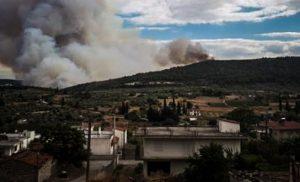 Ολονύχτια μάχη των πυροσβεστών με τις φλόγες στην Τανάγρα