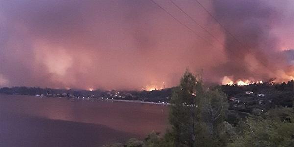 Φωτιά στην Εύβοια: Κάηκαν πάνω από 150 σπίτια και 20.000 στρέμματα - Νέα αναζωπύρωση της φωτιάς Εκκενώθηκαν δέκα οικισμοί